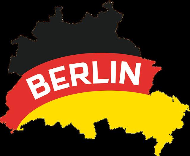 mapa Berlína