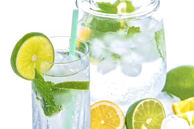 ledová voda s citrusy