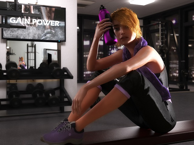 žena unavená po cvičení